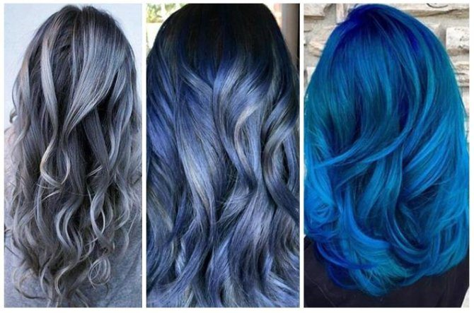 Denim Hair Moves The Modern Hair Color Trend And That's Extremely Beautiful